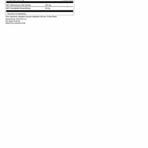 cbd hemp oil capsules supplemental facts