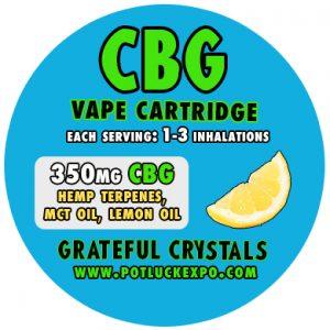 CBG CANNABIGEROL VAPE CARTRIDGEejuice liquid tank hemp